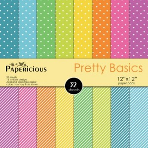 Papericious 12x12 Paper Pack - Pretty Basics