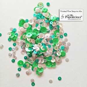 Papericious Sequins Mixes - Frosted Pine - 10g