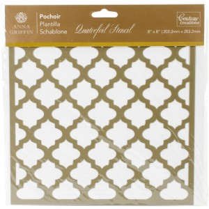 "Couture Creations Arabesque Stencil 8""X8"" - Quatrefoil"
