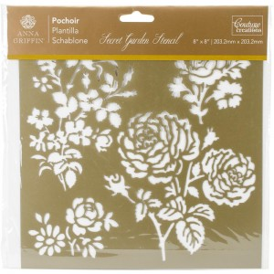 "Couture Creations Arabesque Stencil 8""X8"" - Secret Garden Damask"