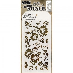 Tim Holtz - Stampers Anonymous - Layering Stencil - Floral