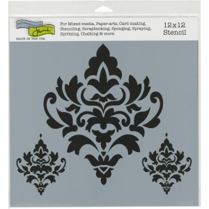 Crafter's Workshop Template 12″X12″ – Damask Decor stencil