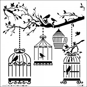 "Crafter's Workshop Template 6""X6"" - Birds of a Feather"
