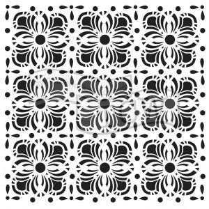 "Crafter's Workshop Template 6""X6"" - Flower Tiles"