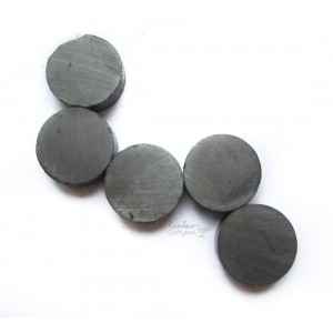 Black Ferrite Magnets - 4pcs - 1inch