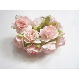 Mulberry Flowers - Light Pink Roses - 2.5cm - 10pcs