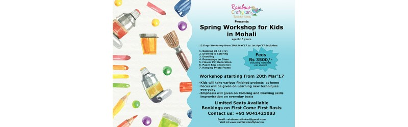 Spring Workshop for Kids in Mohali