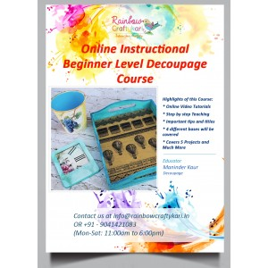 Online RCS Beginner Level Decoupage Video Tutorial Course
